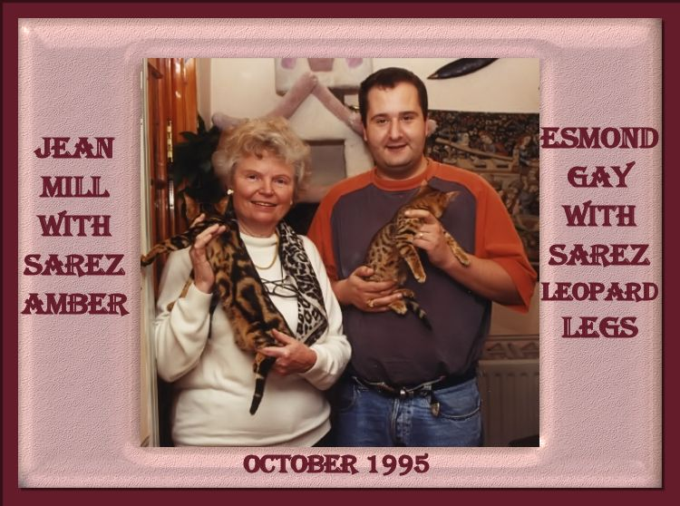 Esmond Gay and Jean Mill with Sarez Bengal CatsAmber and Sarez Leopard Legs